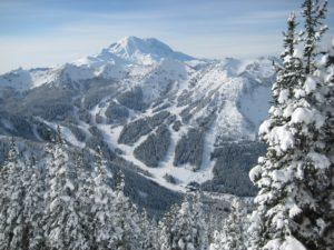 Mount Rainier covered in snow