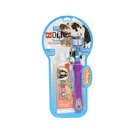 EZ Toothbrush & Toothpaste for Large Dogs