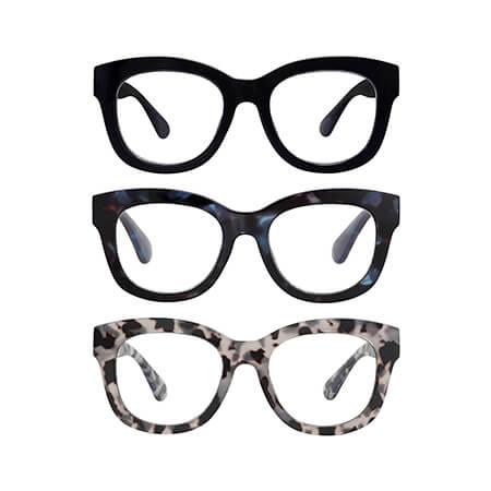 Retro Oversized Reading Glasses with Blue Light Blocking